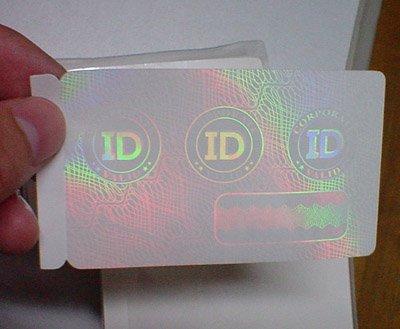 برچسب هولوگرام کارت های اینترنتی